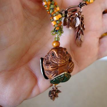 Netsuke Toad Pendant