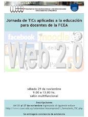 Afiche I Jornada de TICs aplicadas a la educación para docentes de la FCEA