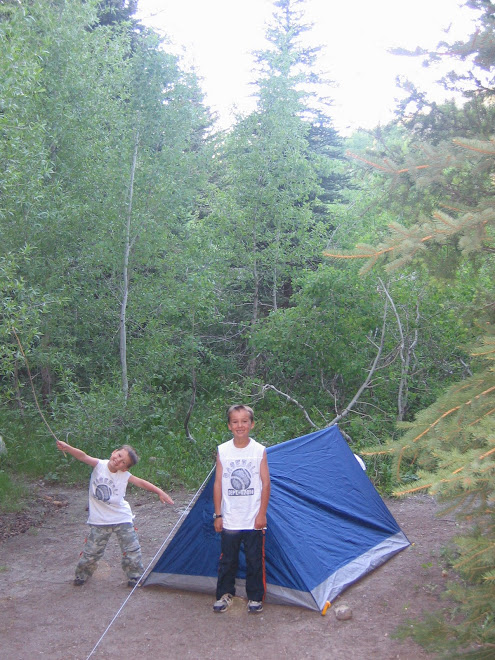 Taylor and chase in tent
