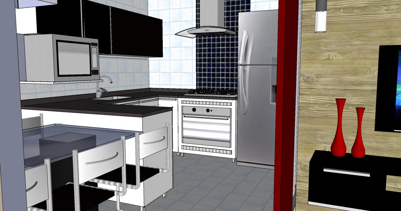 Cozinha e sala conjugada - ideias de decoração - Reciclar