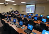 This is a picture of a technology used classroom