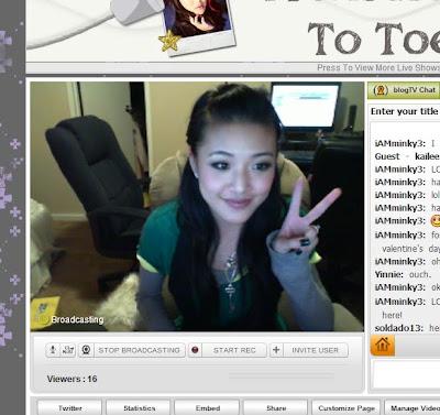 on BlogTV RIGHT NOW! :D