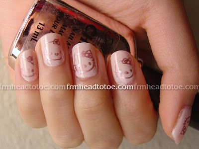 Hello Kitty Konad Nail Art Tutorial
