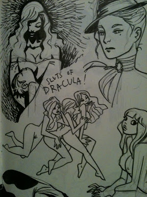 the lovely Kate Beaton, who is currently enjoying some Dracula sluts.