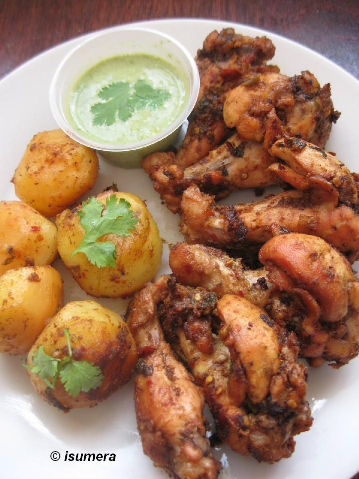 Pakistani Food Recipes Chicken Roast With Potatoes