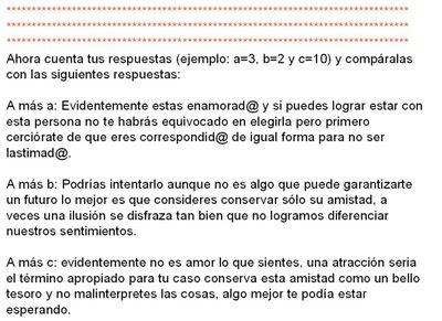 Test de amor de Colegio