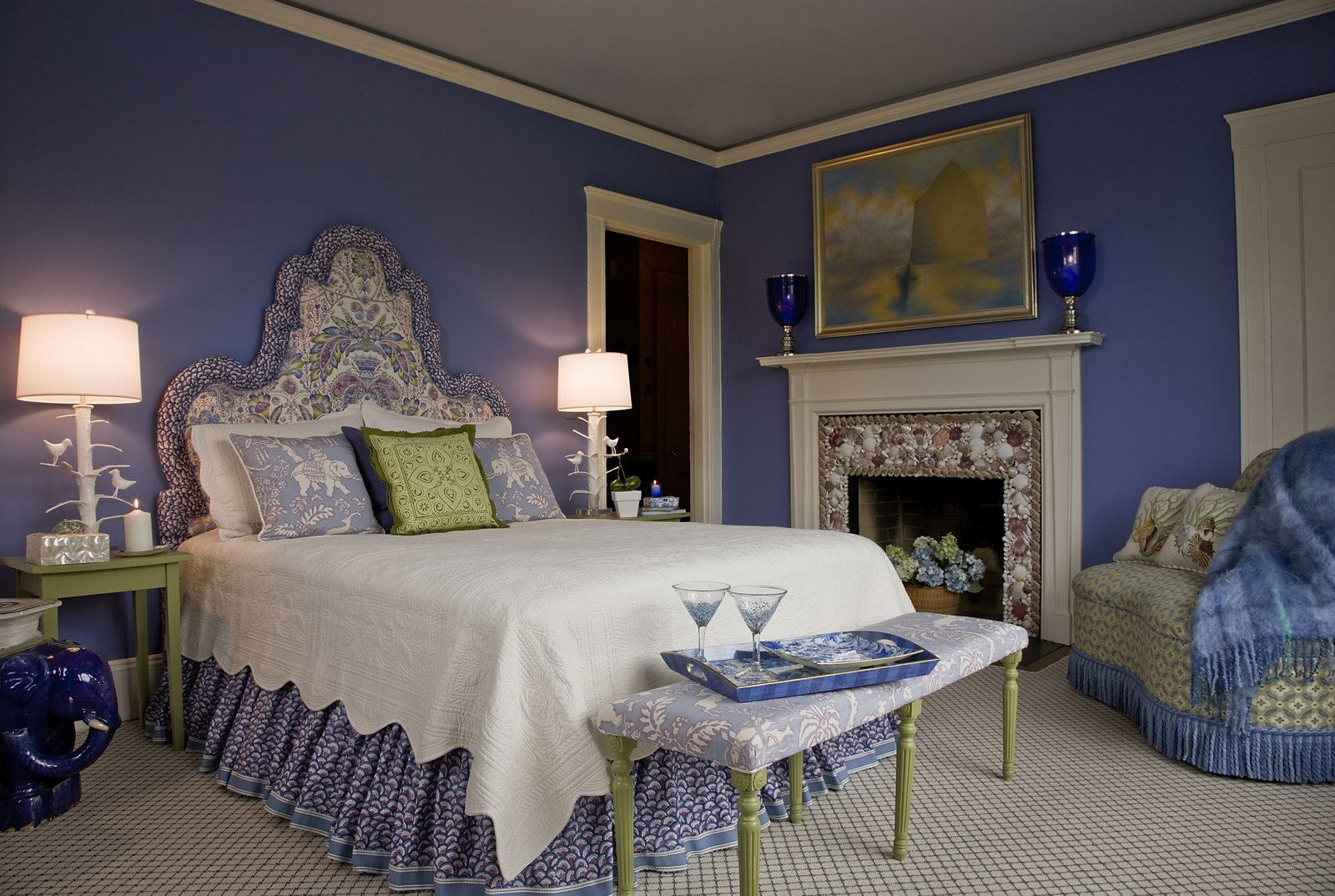 Kate dickerson design portfolio bedrooms for Purple and green bedroom walls