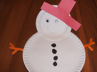 Preschool Craft Project Paper Plate Snowman & Preparing Your Child for Preschool: Preschool Craft Project: Paper ...