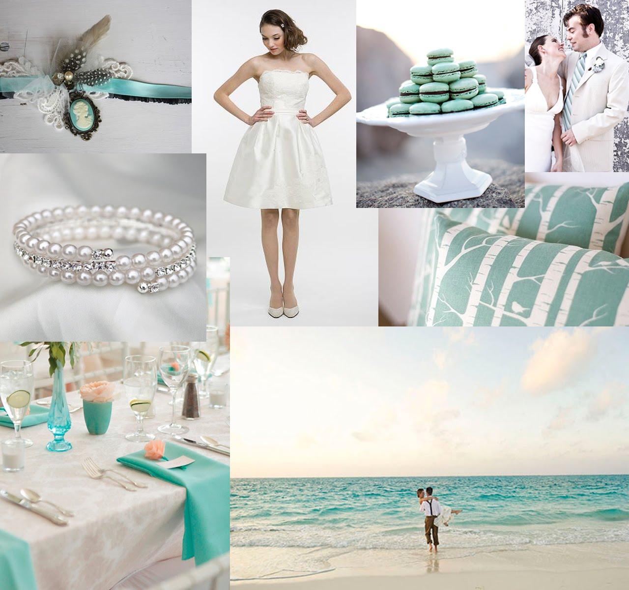 A July Bride Wedding Motif Tiffany Blue