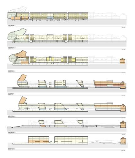 Biblioteca Jose Vasconcelos Plantas Y Elevaciones