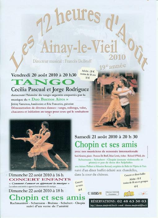 Le vendredi 20 août 2010 à Ainay-le-Vieil