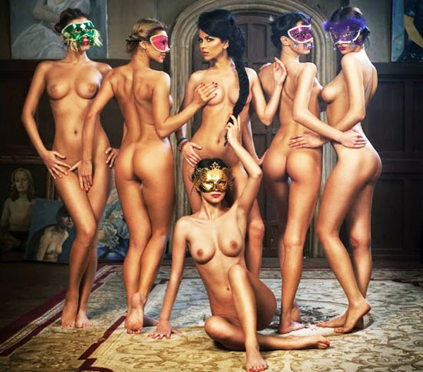 Six (the number of man in Kabbalah/Qabala beliefs) beautiful, naked women ...