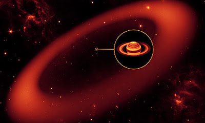 NASA/artist rendering of Saturn's halo.
