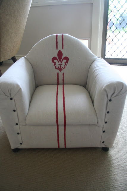 french chair child upholstered lilyfield life