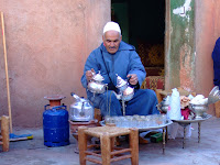 Berber tea ceremony