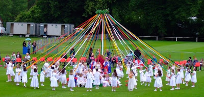Maypole dancing on Bournville Green