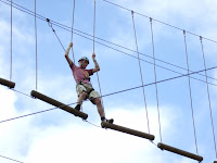 Bradley on the high ropes