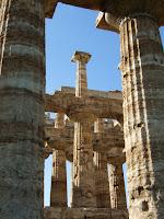 Grecian columns at Paestum