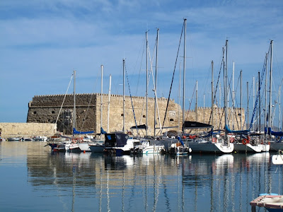 Heraklion harbour and Venetian Fortress