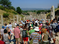 The crowds at Ephesus