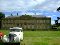 The MG outside Lamport Hall
