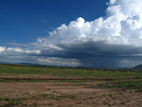 Storm clouds gathering over the Masi Mara