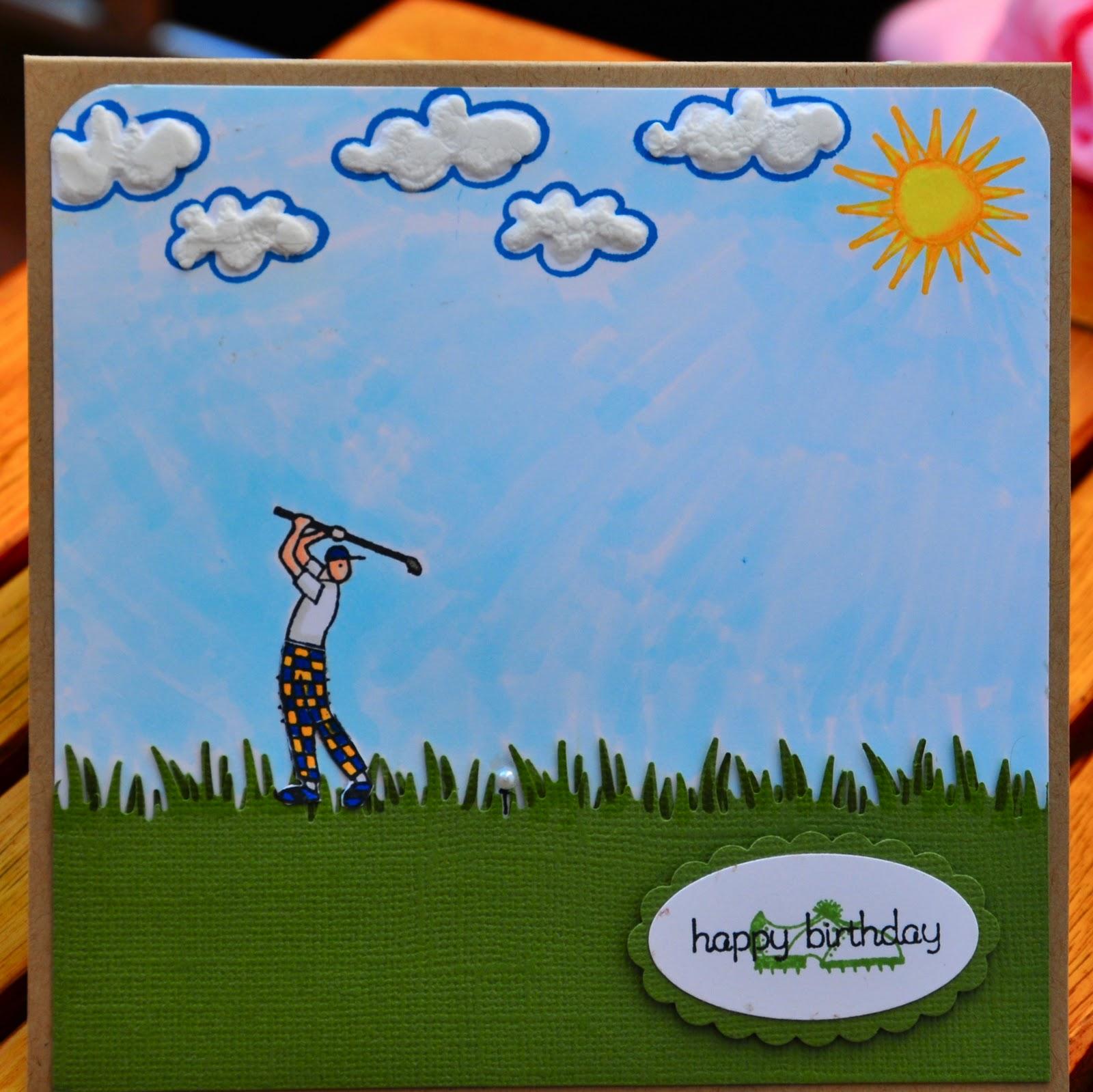 TeaDub Design Golf Birthday Card – Golfing Birthday Cards