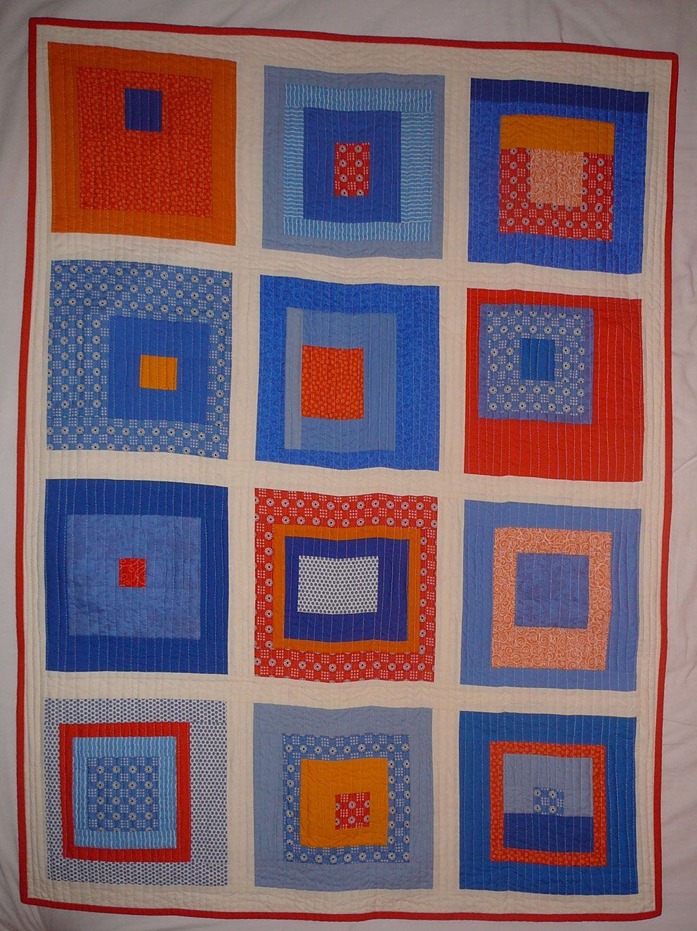 tag wombat blue quilt detail quilts