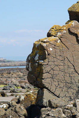 rock Kildonan Arran Tertiary Igneous Basalt dyke