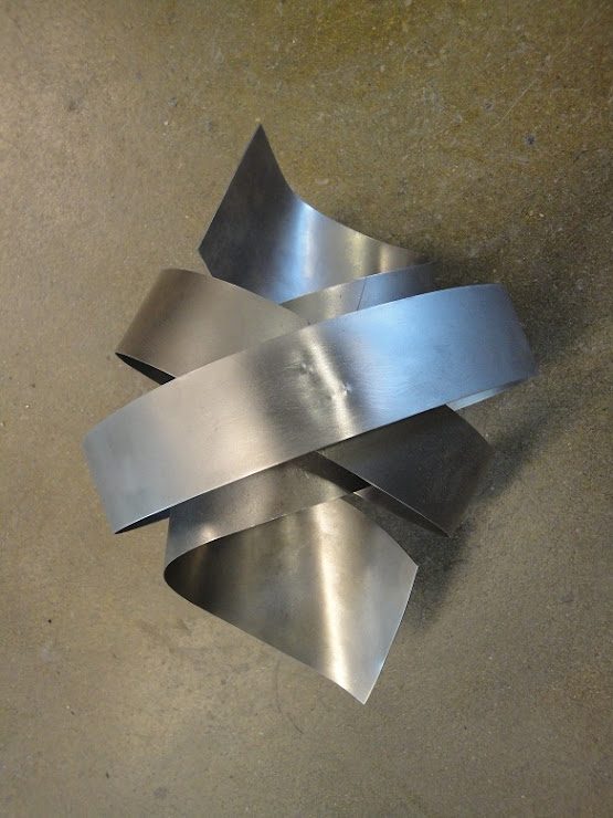 eigen gemaakte lampenkap - staal