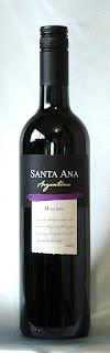 サンタ・アナ・マルベック 2006 ボトル ラベル