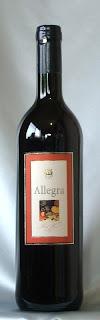 アレグラ スペイン テーブルワイン 赤 NV ボトル ラベル