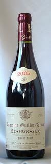 ドメーヌ・ギヨ・ブルー ブルゴーニュ ピノ・ノワール 2005 ボトル ラベル