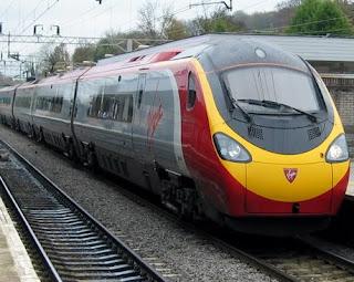 gambar transportasi darat kereta api modern