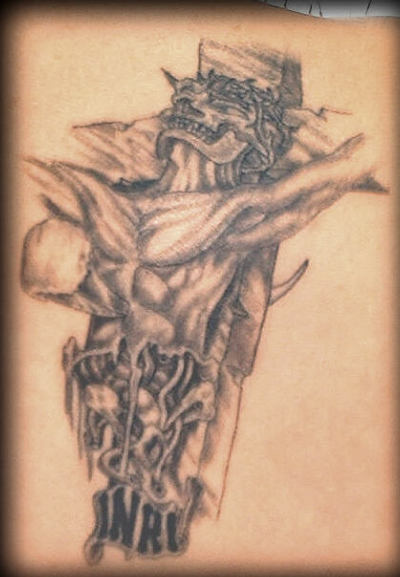 Jesus on cross tattoo