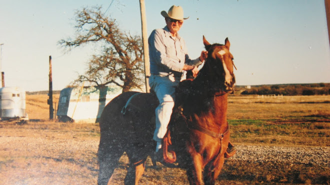 Spring 1992 ~ Breckenridge ~ TX ~ The last horse he rode ~ Jet Smooth Dun
