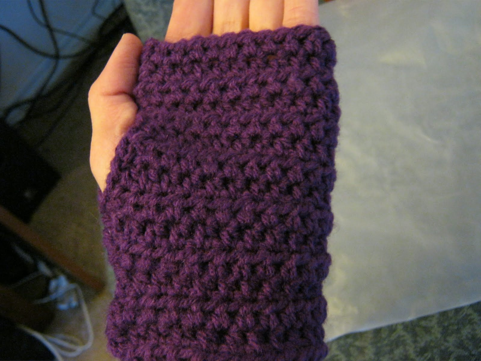 My Not-So-Secret Diary: Crochet wrist warmers
