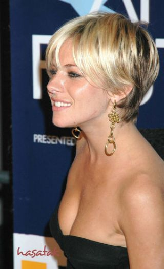dark short hair with highlights