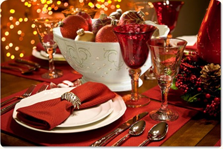 Grace and sparkle holiday tablescapes Christmas party table settings