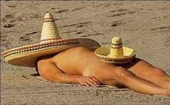 Un mexicain bazané...Heureusement que les chapeaux ne sont pas inversés.