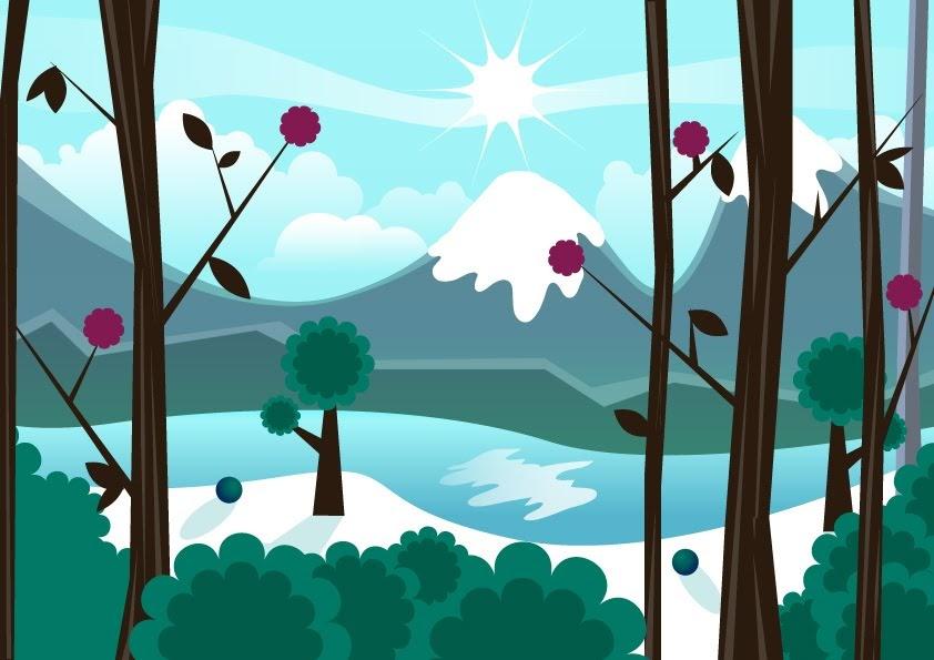 Curso de dise o gr fico paisaje invernal for Curso de diseno grafico