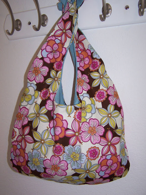 Sweet Spring Flowers Slouch Hobo Purse Handbag