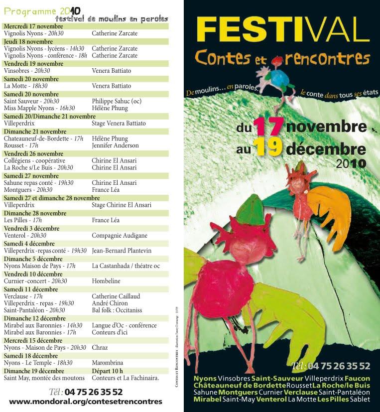 Festival contes et rencontres nyons