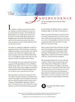 Declaration of Independence Fact Sheet