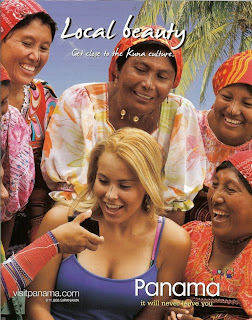 Panama Travel Ad in a Departures magazine - Blonde tourist in Panama