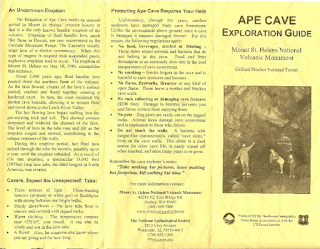 Ape Cave Exploration Guide Page 1
