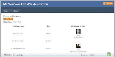 Windows Live Messenger Connect Contacts
