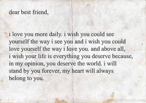best friend quotes letters