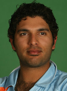 Indian Cricket Team Player Yuvaraj Singh seeing the match pics