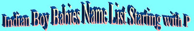 Indian Boy Child Name list with photos